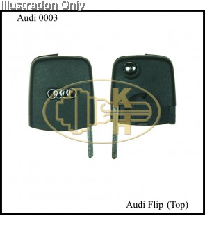 AUDI REMOTE FLIP KEY TOP PART