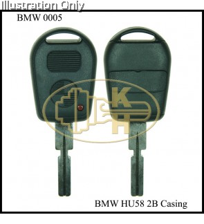 BMW 2B OLD REMOTE HU58 KEYSHELL