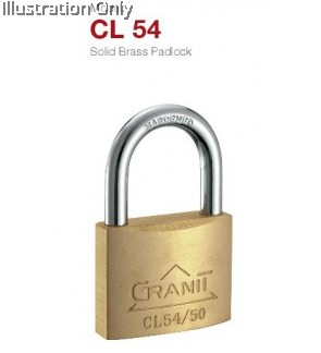 Gere CL54 solid brass padlock