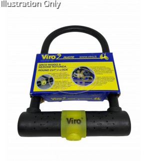 VIRO U-LOCKS WITH TUBULARKEY SUITABLE FOR BIKE, SCOOTER & MOTORCYCLE